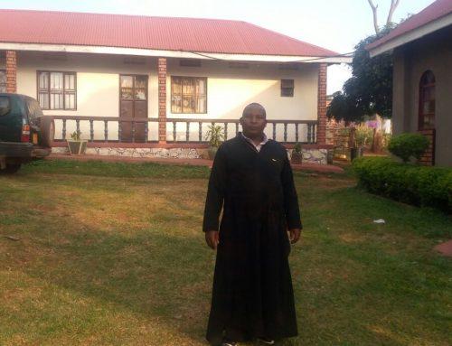 Fr Constantinos in a convent Uganda