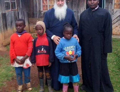 His Eminence Archbishop Makarios with Fr Constantino's and orphans who live in St Irene Orthodox mission center and Orphanage